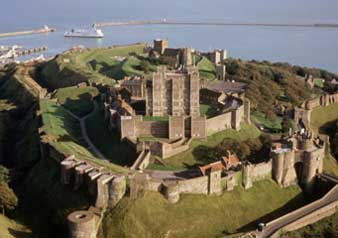Aerial view Dover Castle (c) English Heritage