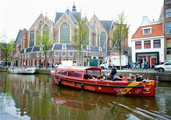 Amsterdam 1-Hour Canal Cruise by Semi Open Top Boat