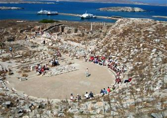 Full-Day Ancient Delos and Rhenia Island Cruise from Mykonos