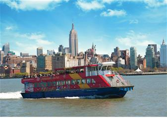 Freestyle Hop-on Hop-off New York Ferry Cruises Tour with 3 Attractions Ticket