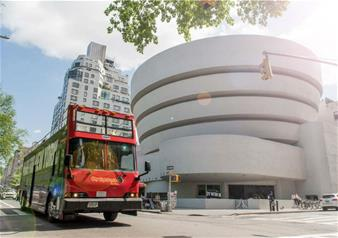 Hop-on Hop-off New York: 24-Hour Downtown Tour + 1 Attraction