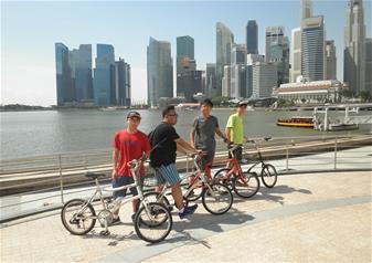 Morning Bike Tour of Singapore City