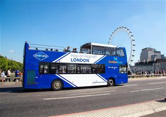 Hop-on Hop-off London Bus Tour 24 hr Ticket + The lastminute.com London Eye & Madame Tussauds