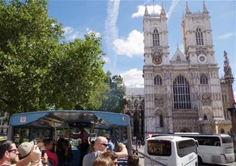 Hop-on Hop-off London Bus Tour 24 hr Ticket + Madame Tussauds & Tower of London + FREE extra 24hrs