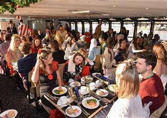 Christmas Day Traditional Lunch Cruise on the River Thames