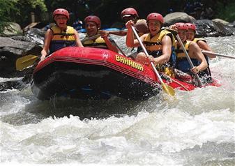 Full Day Rafting Ayung at Payangan and Taro in Bali including Elephant Rides