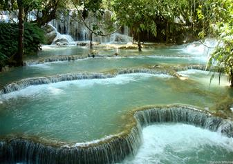 Half Day Guided Tour of Kuangsi Waterfall with Hotel Transfers