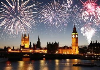 Illuminations of London on Christmas Eve