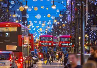 Christmas Lights Open Top Bus Tour on Christmas Day