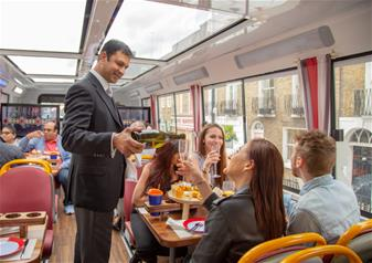 Afternoon Tea Bus with Panoramic Tour of London  Lower Deck