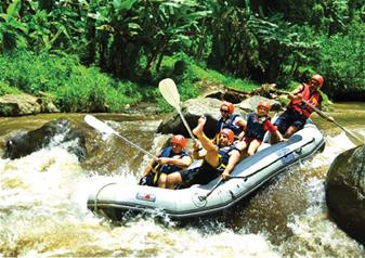 White Water Rafting on Ayung River at Payangan (Bali) including Buffet Lunch