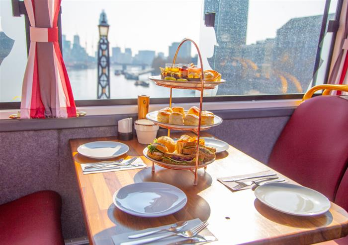 Lower Deck Table Afternoon Tea for to 2 to 4 Passengers