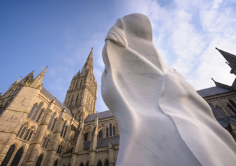 Sculpture exhibition at Salisbury Cathedral
