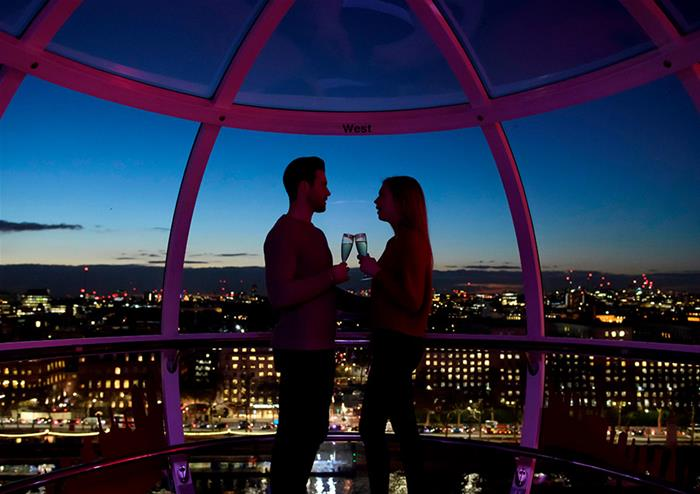 The lastminute.com London Eye Ticket Champagne Experience (Same day)