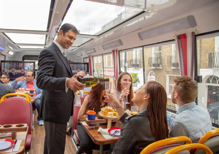 Unique tour of London with dinner and drinks