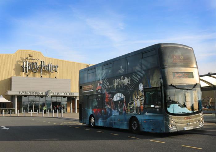 Warner Bros. Studio Tour London with return transportation + 4 hour Hop-On Hop-Off London Bus Tour